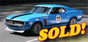 1970 Boss 302 Trans-Am Race Car, sold!