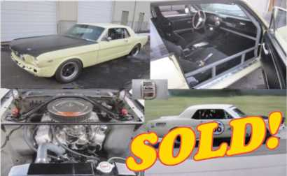 1965 Mustang T/A Vintage Race Car, sold!
