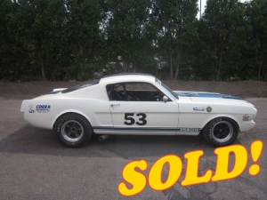 1965 Shelby GT350 Vintage Race Car, sold!